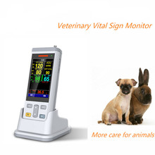 Mini size 3.5 inch Vital Signs Monitor Veterinary patient monitor -clinic animal monitor,Including Spo2,NIBP,Temperature contec 08a vet digital blood pressure monitor veterinary animal nibp spo2 probe