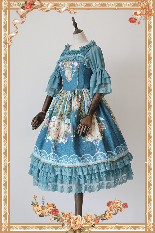 Sweet Mistress Portrait Printed Sleeveless Lolita JSK Dress by Infanta