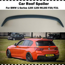 цена на For BMW F20 Spoiler 2012-2018 1 Series 116i 120i 118i M135i Fiber glass for F21 Rear Roof Spoiler AC Style FRP Grey rear wing