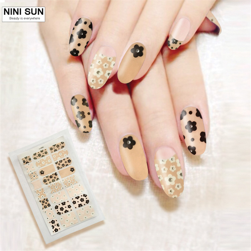 2016 New 3D Flower Design Nail Art Stickers Pegatinas Nails Art ...