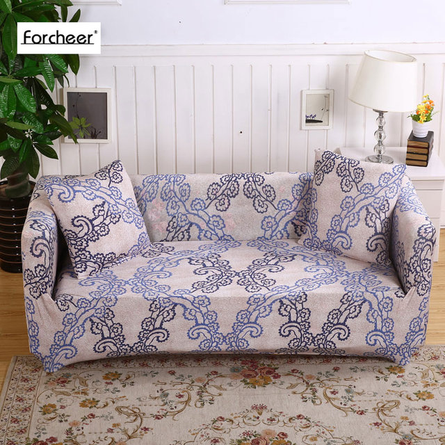Floral Printed Stretch Sectional Sofa Covers For Single Two Three Four  Seats Slipcovers Elastic Couch Cover