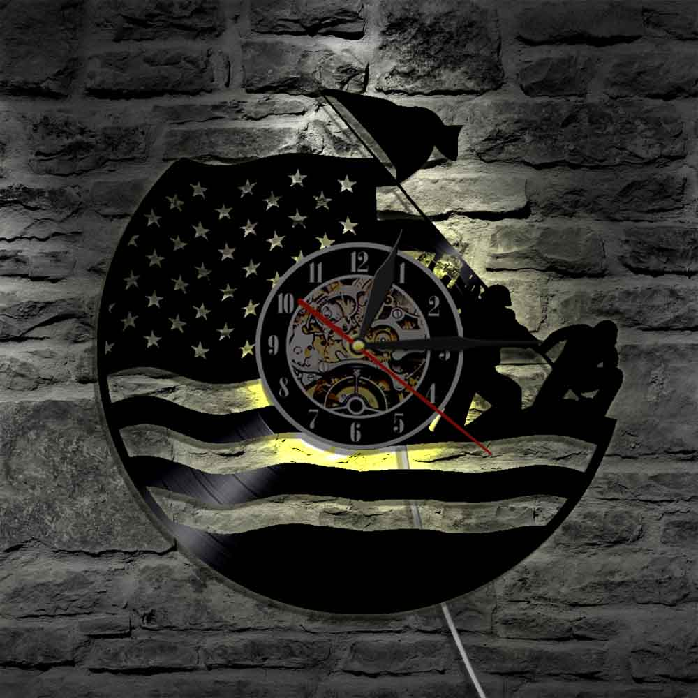 Intelligent 1piece U.s. Marine Silhouette Led Light Soldier Color Changing Wall Light With Remote Controller Home Decor Sophisticated Technologies