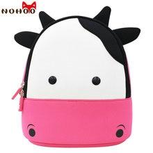 NOHOO Toddler backpack Anti-lost kids baby bag cute animal Cow children backpack kindergarten school bag Red mochila escolar-40