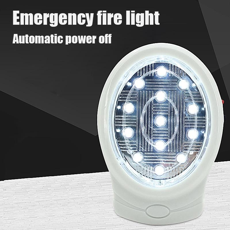 13 LED Single LED Rechargeable Wall Home Emergency Power Failure Lamp EU Plug AC110-240V For Bedroom Night Light