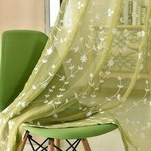 Вышивка Sheer Шторы для Гостиная трехмерная вышивка Лен Тюль Шторы для Спальня эко-friendlyfabric Шторы