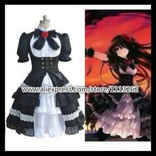 Fecha A Live Cosplay 5 años hace Ver. Kurumi Tokisaki Cosplay Gothic Lolita Vestido de Disfraces de Halloween para las mujeres