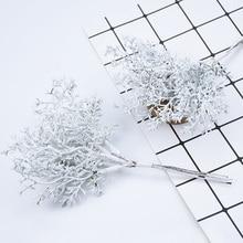 6 шт. растения искусственные, свадебные украшения для дома Свадебные аксессуары оформление поддельные цветы для скрапбукинга diy Рождественский венок