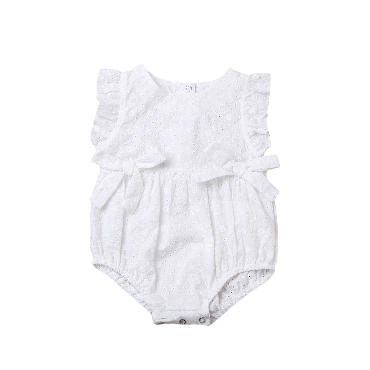 3 color!Cute Newborn Baby Girls Romper Floral Lace Romper Bowknot Clothes One Pieces Jumpsuit Outfit