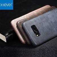 X Level Original Ultra Thin Slim Case For Samsung Galaxy S8 S8 Plus Luxury Vintage PU