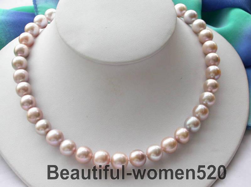 Z2882 17 12mm rond lavande fw collier de perles aimantZ2882 17 12mm rond lavande fw collier de perles aimant