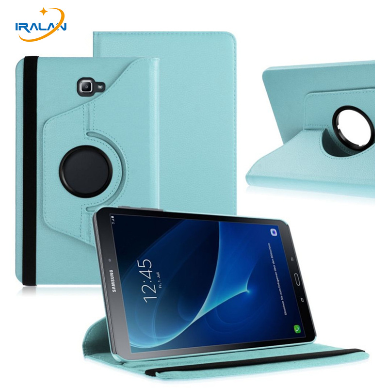 New Wholesale 360 Rotating PU Leather Stand Case Cover For Samsung Galaxy Tab A 10.1 2016 T580 T585 Tablet film + stylus gifts coccodrillo coccodrillo лонгслив icon красный