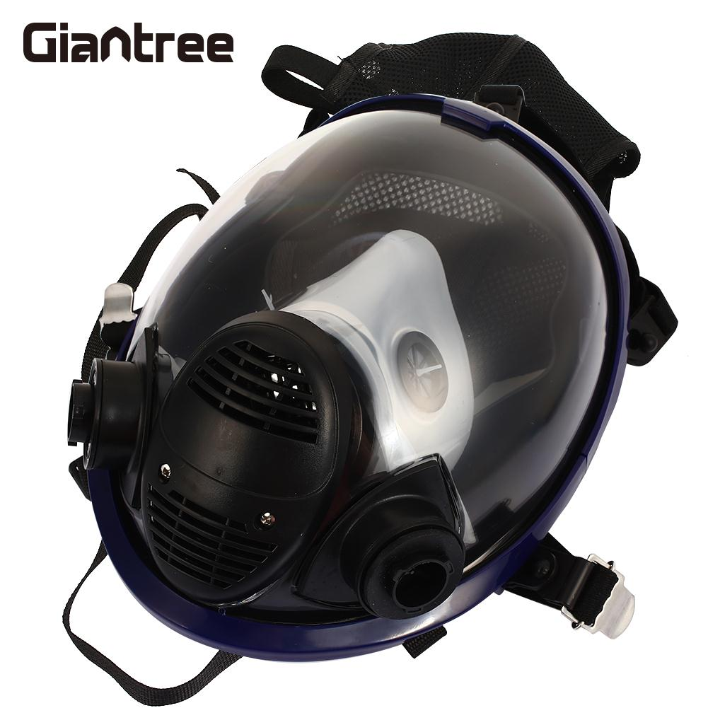 Spraying Gas Mask Silicone Facepiece Respirator Universal Breathing Respirators Full Face Spray Painting Gas Mask painting spraying dust mask russian soviet military vintage gas mask full face facepiece respirator 40mm