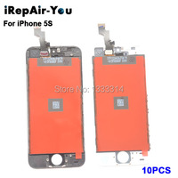 10PCS Wholesale Grade AAA Quality LCD Display For Apple IPhone 5S LCD Touch Screen Digitizer Assembly