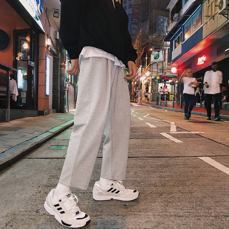 Men Harajuku Solid Pants 2019 Mens New Korean Fashion Joogers Pants Male Track Pants High Street Casual Spring Summer Trousers