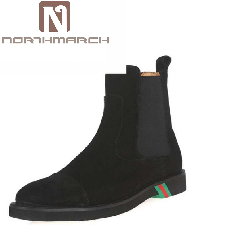 NORTHMARCH Men's Chelsea Boots British Style Fashion Ankle Boots Men Black/Brown Soft Leather Round Toe Winter Shoes Laarzen zunyu new autumn winter men s chelsea boots luxury british style fashion ankle boots black brown blue soft leather casual shoes