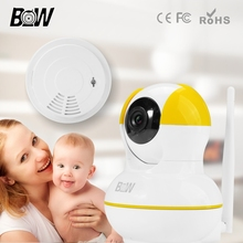 HD Video Surveillance Digicam IP Wifi IR LED + Smoke Detector Alarm Safety Digicam System Community IP Digicam Wi-fi