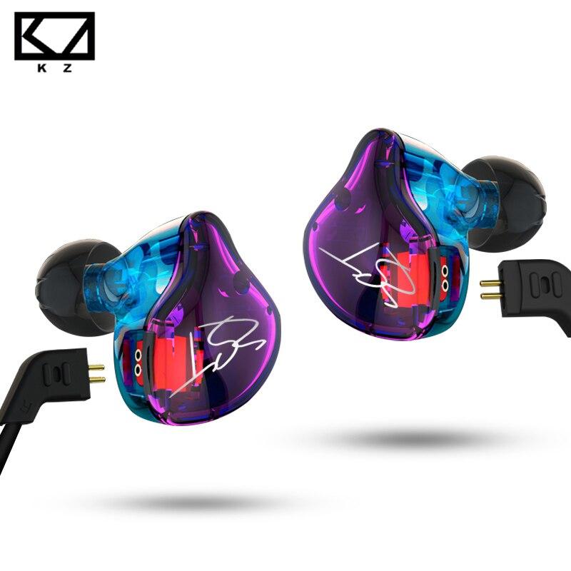 KZ ZST Hybrid Earphone Wired Armature+Dynamic Dual Driver Noise Isolating HI-FI Bass earphones for Sport music smart phones