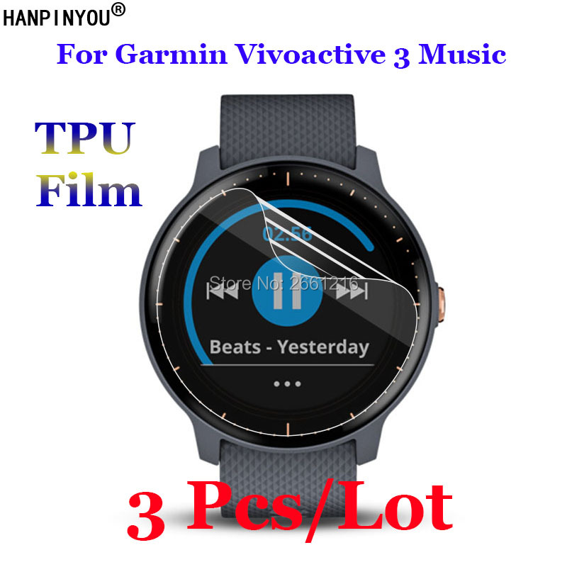 Screen-Protector Smart-Watch Garmin Vivoactive Music Sports Not-Tempered-Glass for 3