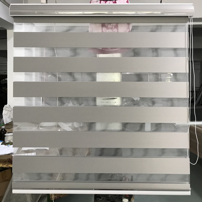 Custom Made 90% Blackout Roller Zebra Blinds In Gray Window Curtains For Living Room GH03-006 12 Color Are Available