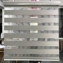 Özel yapılmış % 90% karartma rulo Zebra jaluzi gri pencere perdeleri oturma odası için GH03 006 12 renk mevcuttur