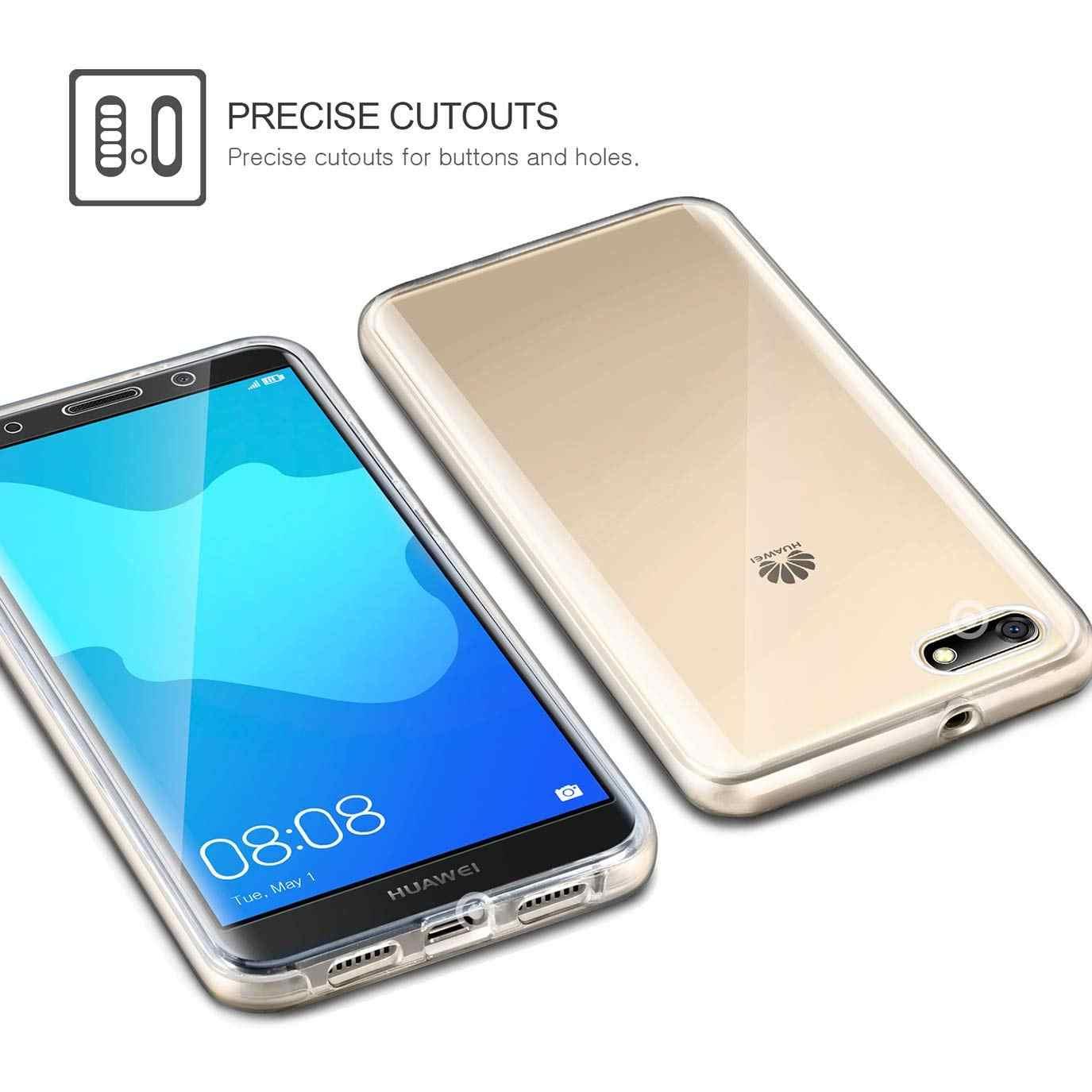 עבור Huawei P40 P20 P30 נובה 3 3i Y6P כבוד Mate 10 20 פרו 8X לייט 360 תואר שקוף מלא גוף רך סיליקון TPU Case כיסוי
