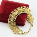 20mm Big Wide Gold Bracelet For Women Real Gold Plated Wholesale Unique Link Chain Bracelet & Bangles