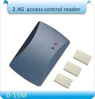 Access Control System special 2.4GHZ longest distance 15M 2.4GHZ Access Control Card Reader+10pcs 2.4GHZ cards