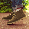 Men Ankle Boots Shoes Genuine Leather Warm Winter Boots Men England Snow Boots for Men Fashion Winter Shoes