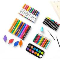 HobbyLane Children Painting Art Brush Set Colorful Drawing Pens Watercolor & Oil Drawing Toys Painting Supplies with Box