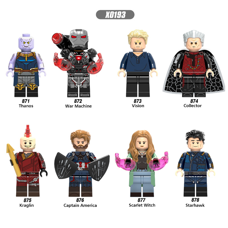 Single Sales Building Blocks Super Heroes Thanos Vision Collector Captain America Scarlet Witch Gift For Children