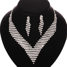 High Quality Fashion cheap crystal necklace for wedding Jewelry sets DS006