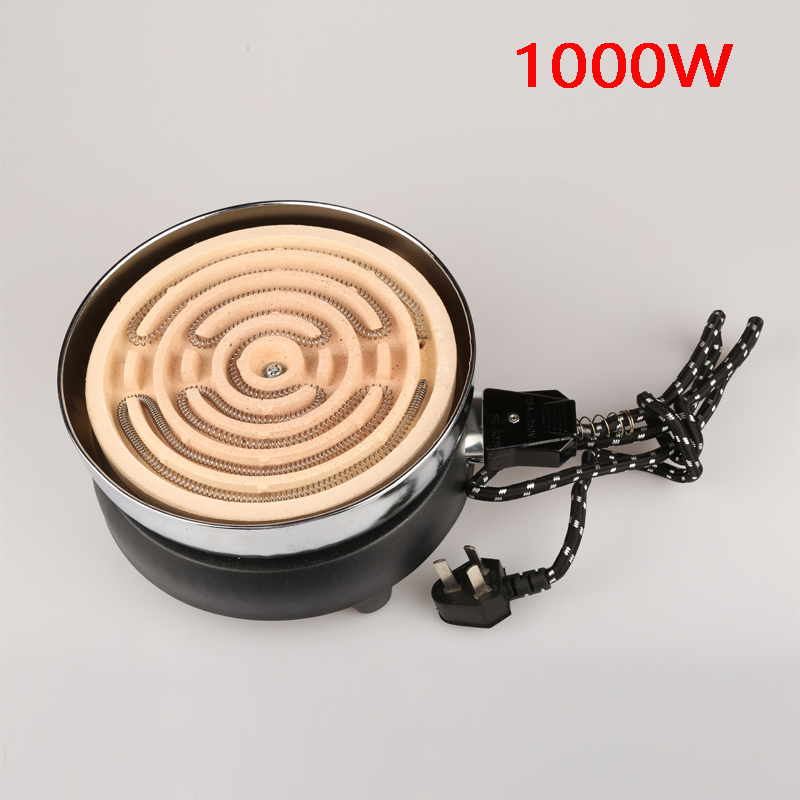 1000 W mini electric stove, household/experiment/civil/industrial furnace, electric hot plate, electric cooker, single burner 220v 600w 1 2l portable multi cooker mini electric hot pot stainless steel inner electric cooker with steam lattice for students