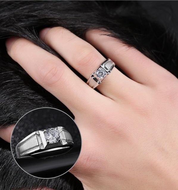 Регулируемое кольцо с фианитом aaa для мужчин обручальное свадьбы