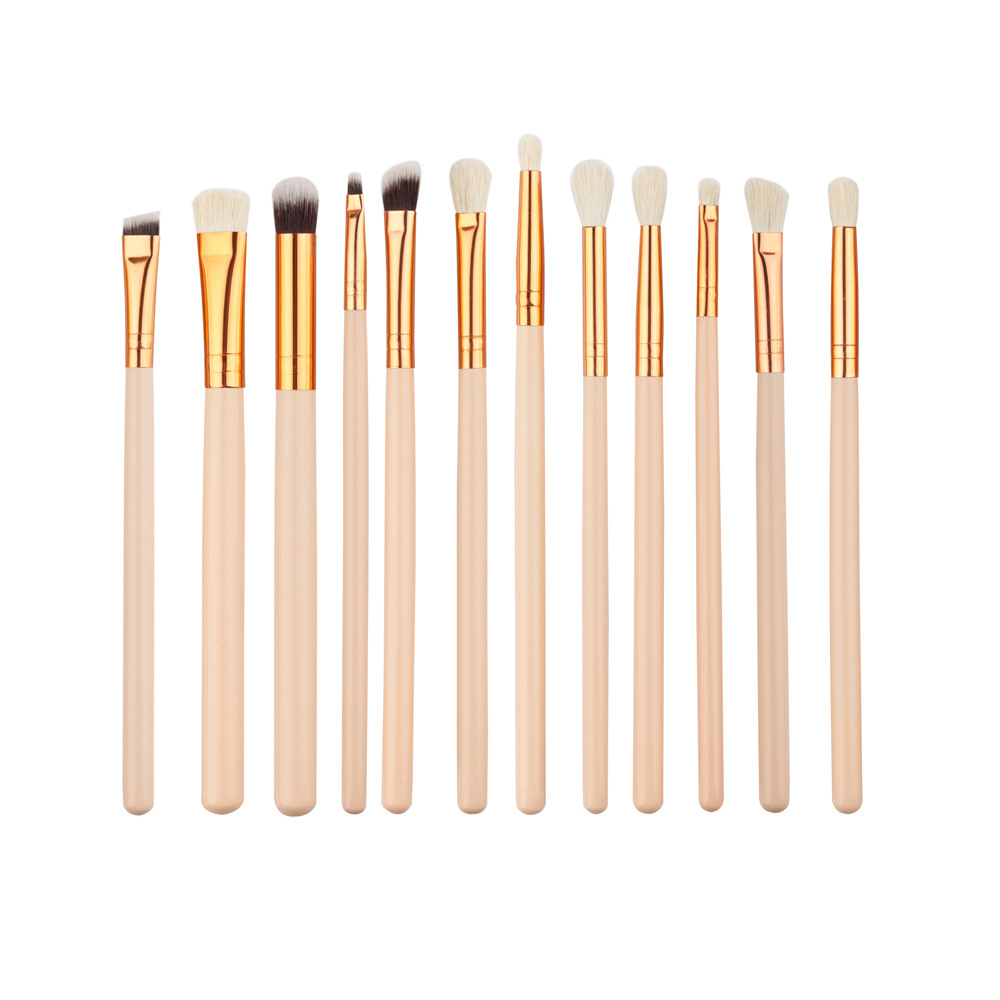 12pcs Eye Makeup Brush Kit Eyeshadow Powder Eyeliner Blending Brushes Eye Shadow Brushes Set For Women 4 Colors Available 12pcs eye makeup brushes set eyeshadow
