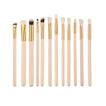 12pcs Eye Makeup Brush Kit Eyeshadow Powder Eyeliner Blending Brushes Eye Shadow Brushes Set For Women 4 Colors Available