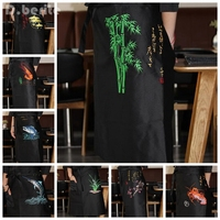 Sushi Chef Practical Apron Japanese Restaurant Bar Adult Work Uniform High Quality Waist Embroidery Unisex DAJ9292