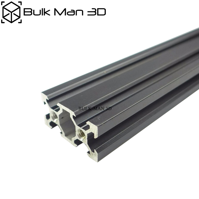 V Slot 2040 Sliver/Black Anodized Linear Rail For 3D Printer,CNC Router,V Slot Rail,Aluminium Profile