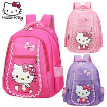 Kawaii Cartoon Pink Hello Kitty Backpacks Cute Baby KT Girls Bags Children Schoolbag Kids Gifts Good Quality