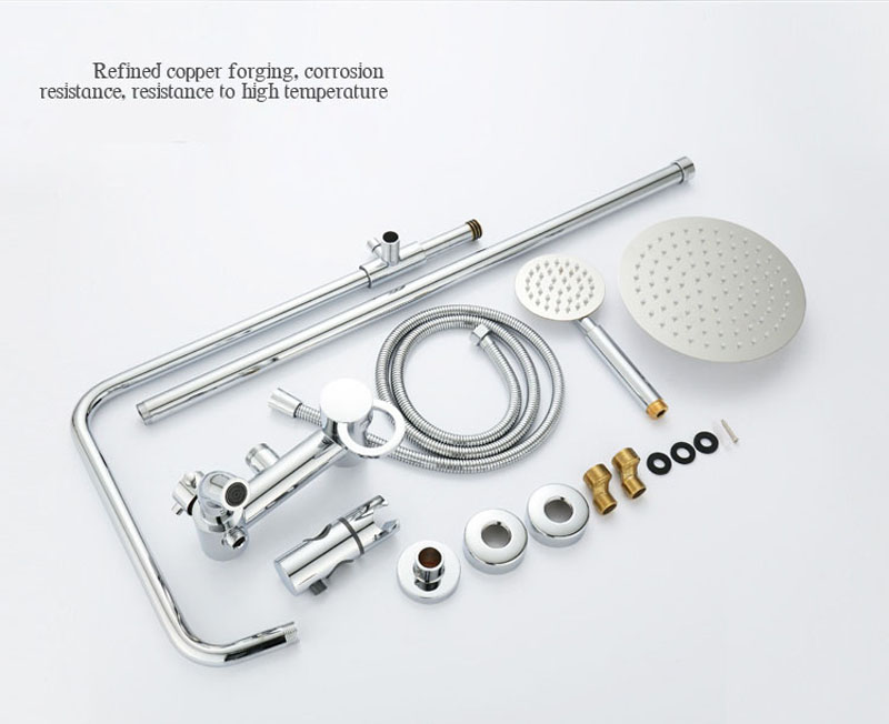 Bathroom Rainfall Shower And Mixer Faucet, Wall Mounted