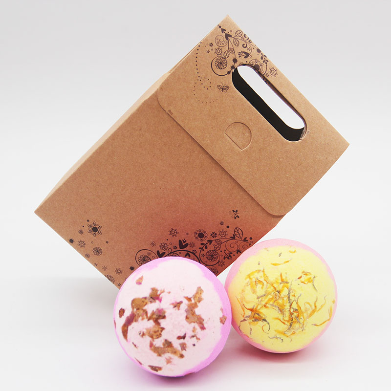 Tsing Bath Bomb Camomile Rose Box 120g Essential Oil Handmade Bubble Natural bath bomb SPA  Bombs For Gift Set