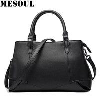 High Quality Handbags Women Genuine Leather Bags Fashion Shoulder Bags Ladies Satchel Brand Design Solid Office