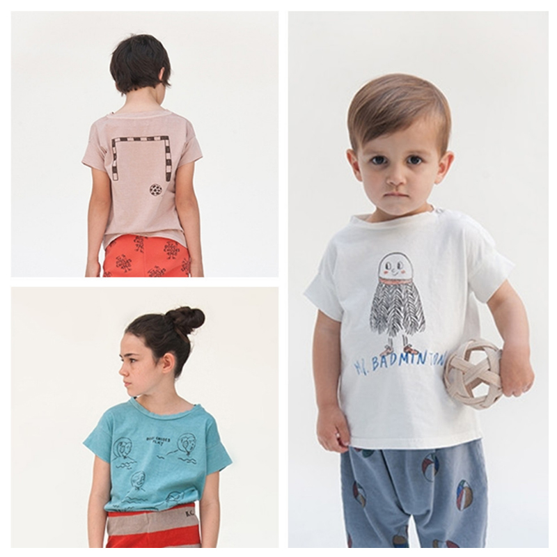 2017 New Fashion Baby Girls Short Sleeve T Shirt Kids Solid 100% Cotton Tops Summer Girls T Shirt Children Clothes Bobo Choses Tees