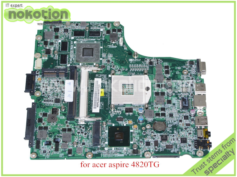 NOKOTION DA0ZQ1MB8D0 REV D MBPVL06001 MB.PVL06.001 For acer aspire 4820 4820TG motherboard HM55 ATI hd5650m nokotion mainboard for acer aspire 5738 laptop motherboard ddr2 ati hd4500 video card mbpke01001 mb pke01 001 48 4cg07 011