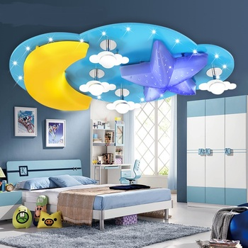 Çocuk lamba ay LED tavan ışıkları çocuk ve erkek/kız yatak odası lambası karikatür yaratıcı kişilik ışık ZH