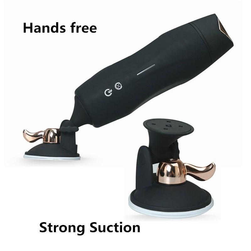 Image 3 - Électrique mâle masturbateur tasse automatique télescopique sexe Machine mains librement vagin sexe vibrateur jouets sexuels pour hommesVibrateurs   -