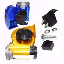 12V 139dB Car lacquer Blue Snail Compact Dual Air Horn for Vehicle Motorcycle Yacht Boat SUV Bike