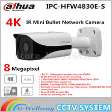 Free shipping New Dahua 4K IPC-HFW4800E upgraded to IPC-HFW4830E-S Ultra HD Network Small IR Bullet IP Camera English Firmware