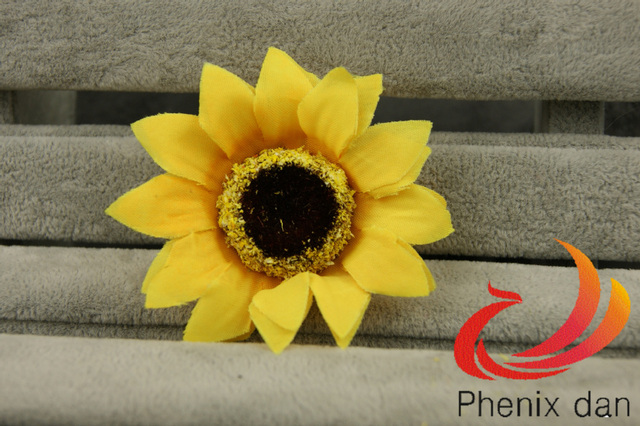 Free Shipping New arrival Mixed-wholesale Artificial Silk Sunflower Heads for  Wedding/home Decoration and Photography props