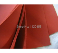 500X500X3mm AG Silicone Sponge Sheet 500mm Width 3mm Thickness Closed Cell Foam Silikon Sheet RED Color
