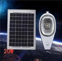 12V 20W Led Solar Street Light Outdoor PIR Motion Sensor Street Lights IP65 Waterproof Solar Panel Street Light Garden